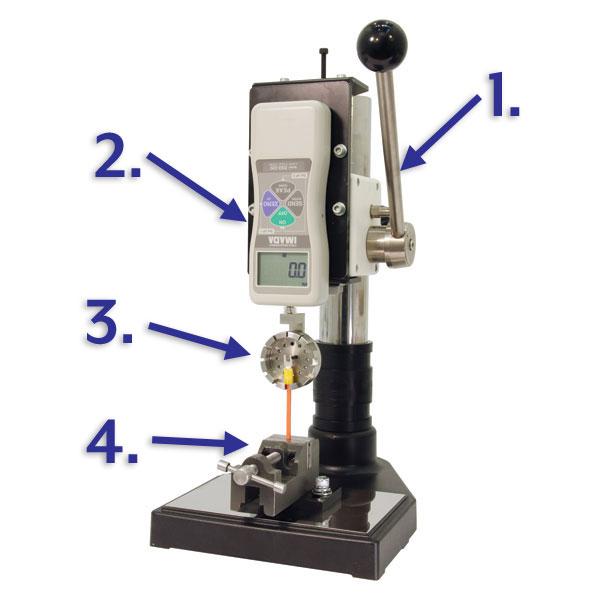 Lever Operated Vertical Crimp Tester | Imada Inc.