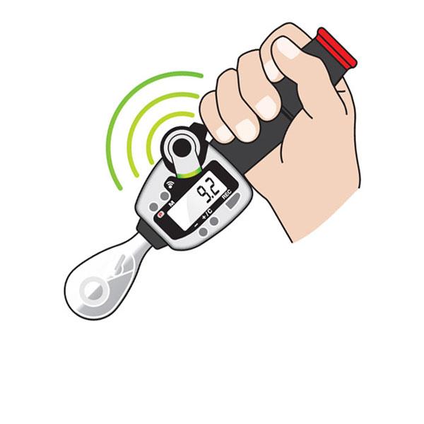 Cartoon Battery Tester : Wireless digital ratchet torque wrench imada inc
