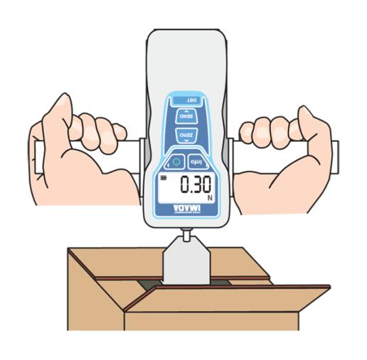 DST digital force gauge testing cardboard box