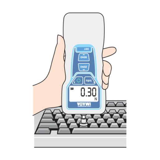 DST digital force gauge testing keyboard